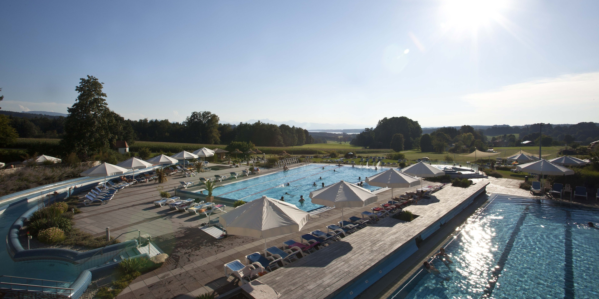 The 4 star hotel directly next to the Chiemgau Thermen